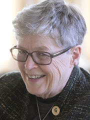 Lou Anna Simon, president of Michigan State University.