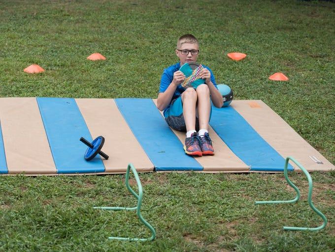 Sailor Cope, 12, participates in Healthy Kid's Day