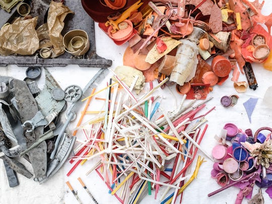 """Images from Arleen Thaler's show """"Plastics: Our Weakness"""""""