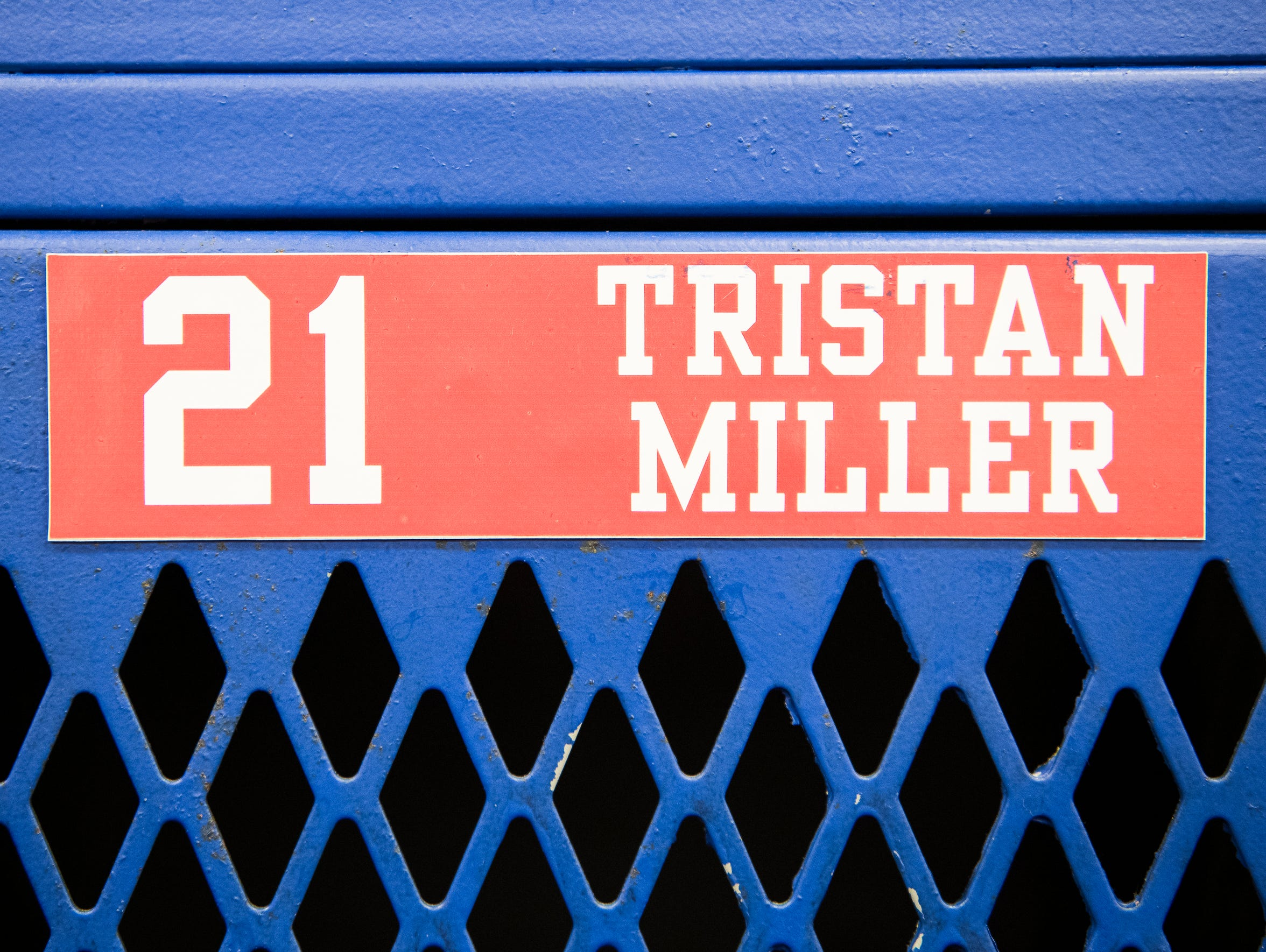 Tristan Miller's basketball locker stands as a remembrance