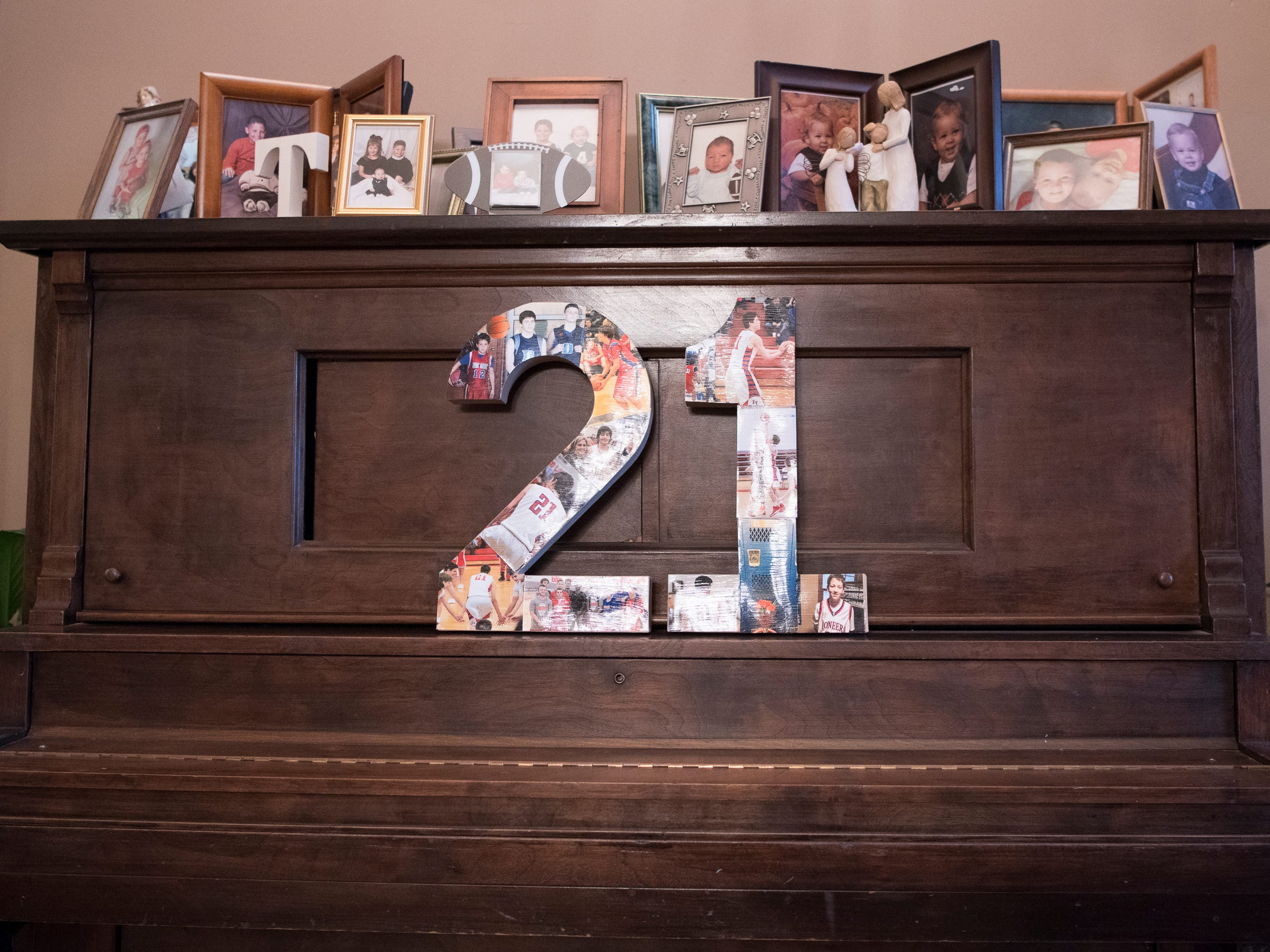 The Miller family keeps Tristan's memory alive through photos and other mementos in their home.