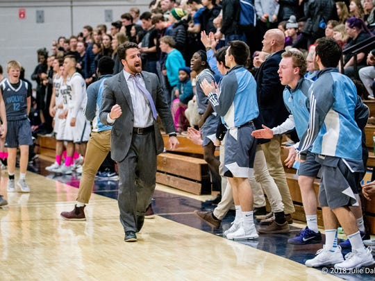 South Burlington boys basketball coach Sol Bayer-Pacht,