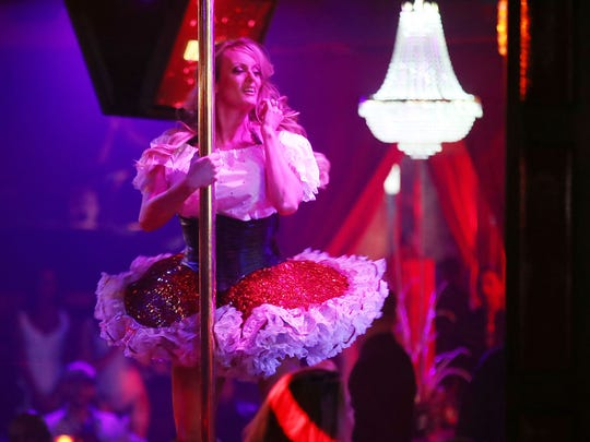 Stephanie Clifford, also known as Stormy Daniels, performs