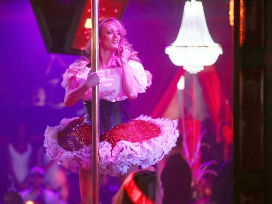 Stormy Daniels performs March 9, 2018, in Pompano Beach, Fla.