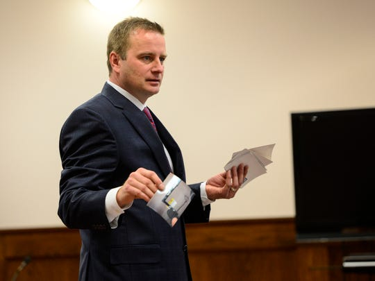 """Defense lawyer Stephen Cornwell goes through the evidence stating """"none of this evidence points to Nigel Saunders."""""""