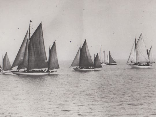 The 1930 Port Huron-to-Mackinac Island Sailboat Race.