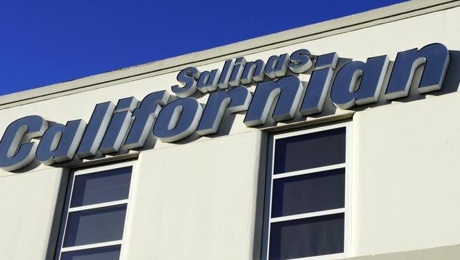 The Salinas Californian sign outside 123 W. Alisal Street.