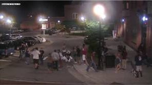 One person has been arrested in connection with a fight in downtown Stevens Point last month.