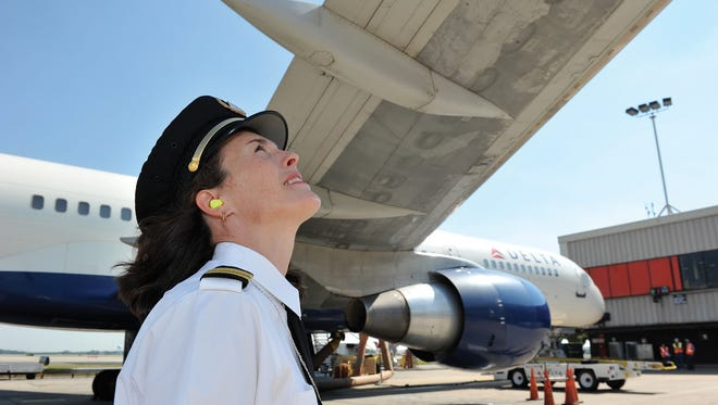 Annmarie Savitski, first officer for Delta Air Lines based at Metro Airport in Detroit.