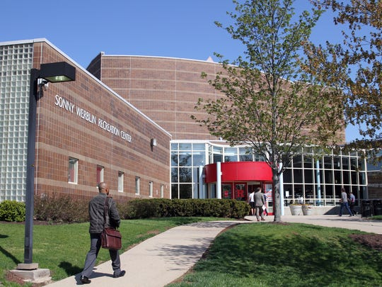The Sonny Werblin Recreation Center on the Rutgers University Busch Campus in Piscataway is shown.     Mark R. Sullivan/staff photographer  On Friday May 2,2014 Piscataway