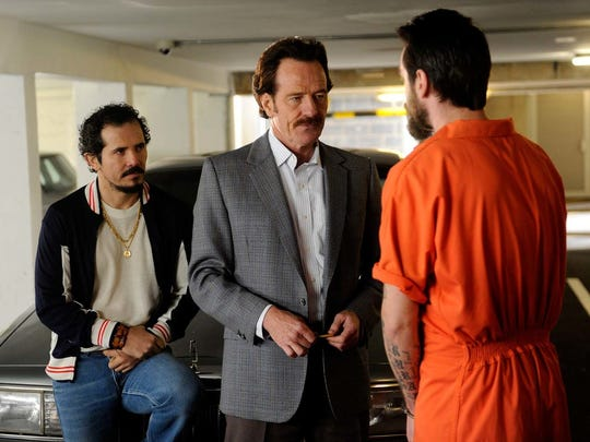 "John Leguizamo and Bryan Cranston play agents trying to take down a drug cartel in ""The Infiltrator."""