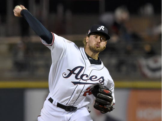 Former Wolf Pack pitcher Braden Shipley is in his fourth season with the Reno Aces.