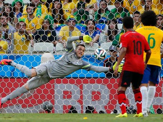 Brazil goalie
