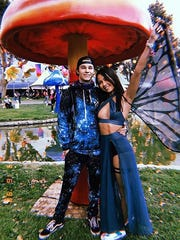 Rave micro influencer Gabby Parsons shared this photo of she and boyfriend Jason Underwood (also an influencer in the rave community) to Instagram of them wearing gear from Anaheim, Calif., apparel company iHeartRaves.