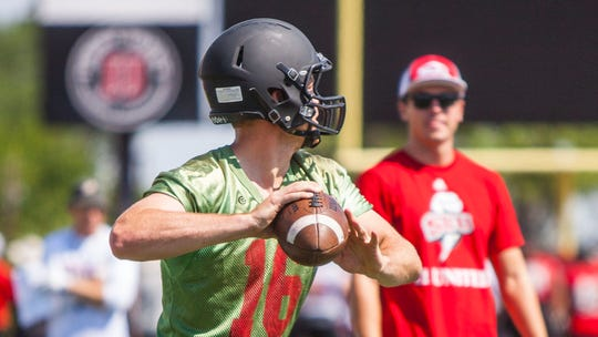 Southern Utah quarterback McCoy Hill, August 3, 2016