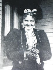 Miss Hattie Belle McCoy, pictured at age 17 or 18,