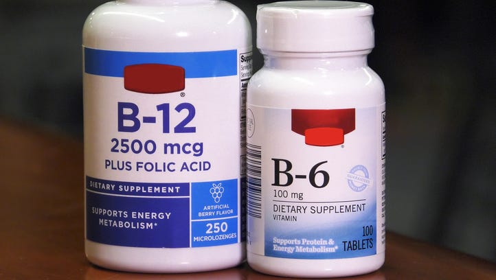 High-dose, long-term use of vitamins B12 and B6 dramatically