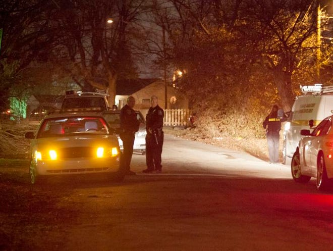 IMPD investigating a shooting that occurred in the early hours on Wednesday, March 19, 2014 in an Eastside home on Brookville Avenue just west of Emerson Avenue. There was one man inside the house with a gunshot wound to his head and another man in a detached garage also suffering from a gunshot wound.