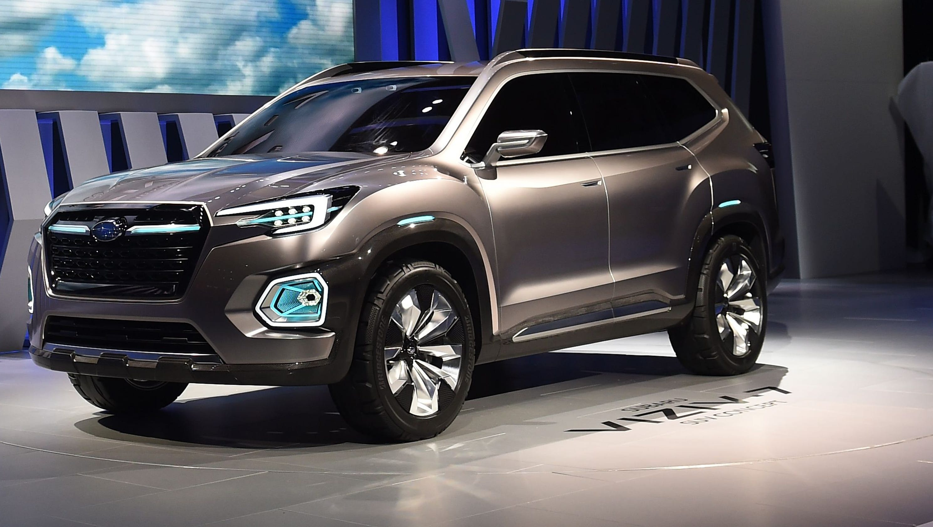 subaru unveils concept for its largest suv yet. Black Bedroom Furniture Sets. Home Design Ideas