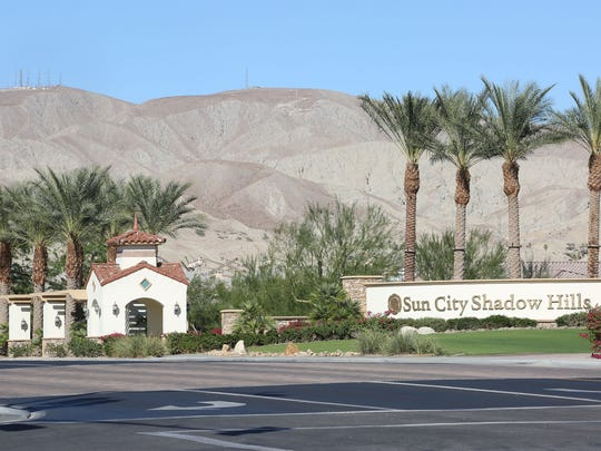 The Sun City Shadow Hills entrance on Ave 40 in Indio, October 24, 2017.