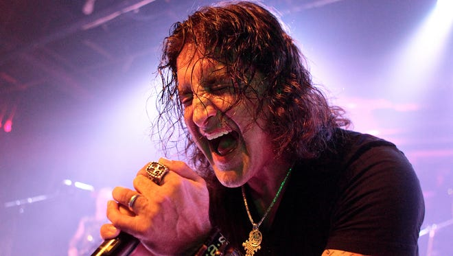 Scott Stapp, of the band Creed, performs solo in Baltimore in April.