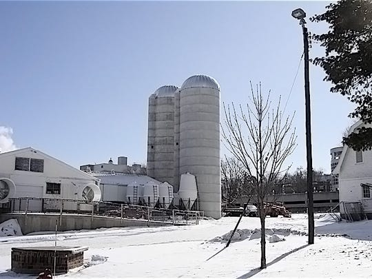 Two 18 x 60 silos built by Wisconsin Silos, Plover,