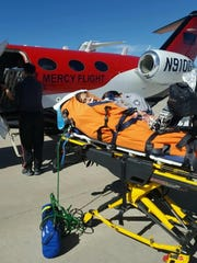Dane was flown on a Mercy Flight to Denver. She received