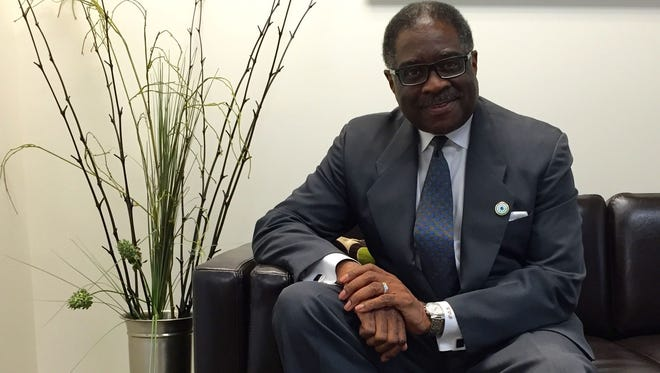 Kerwin Brown, president and CEO of the Black Chamber of Arizona, sits in his office in downtown Phoenix. Brown says local companies still struggle to hire a diverse workforce.
