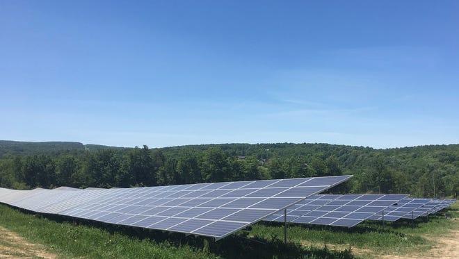 Nexamp's 7.5 megawatt solar farm installation off Millard Hill Road in the Town of Newfield.