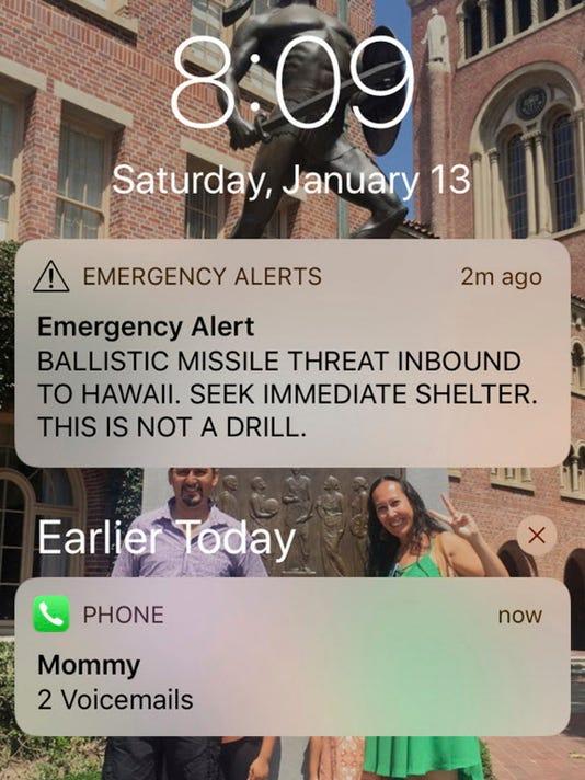 AP HAWAII MISTAKEN MISSILE ALERT A FILE USA HI