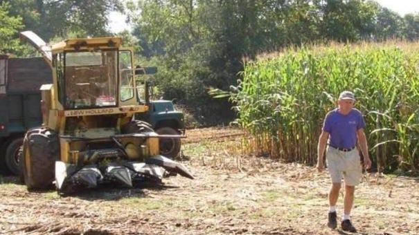Arthur Spielman Jr. working on Spielman Farm. Spielman Jr. died on July 3, and his grandson Arthur Spielman IV, is organizing a tractor parade in his memory.