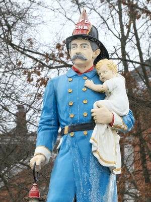 Baker Fireman's Fountain is in the Village of Owego Courthouse Square.