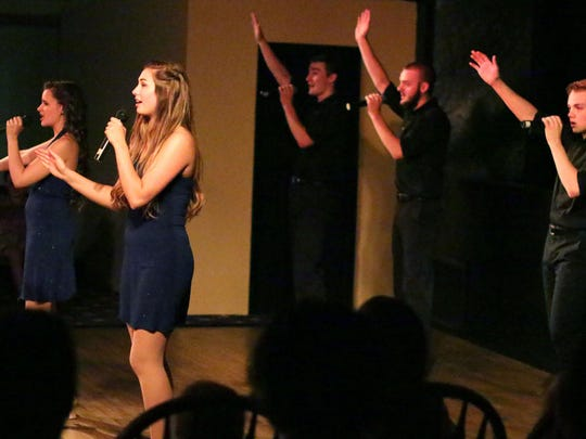"""The Victorian Village Summer Revues ensemble performs """"Press Play"""" Wednesday, July 22, in Elkhart Lake."""