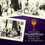 The poster for the North Delta Food & Wine Festival by Caroline Youngblood.