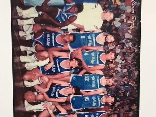 Jon Darsee (front row, third from left) and his Brazil basketball teammates.