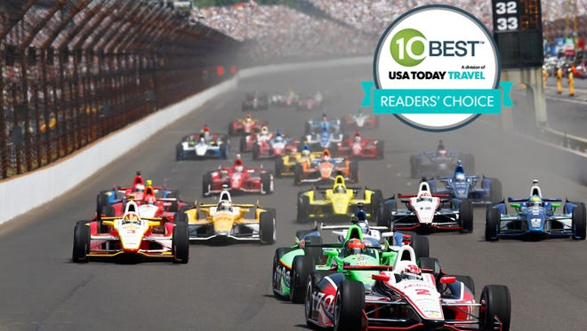 The Indianapolis 500 roared past the checkered flag in first place, in our 10Best Readers' Choice award contest for 'Best Bucket List Sports Event.'