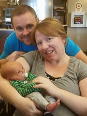 Tammy, Sebastian and I as just before we head home from the hospital.