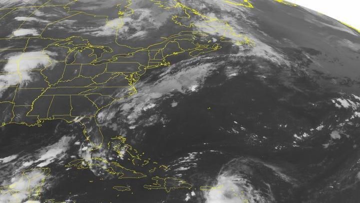 This NOAA satellite image taken Aug. 28, 2015, at 12:45