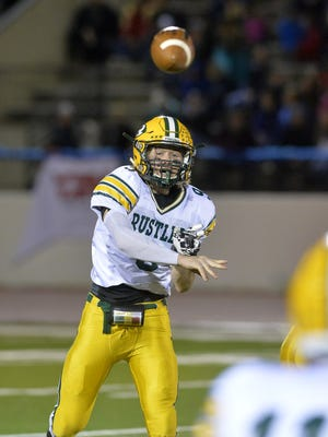 CMR's Garrison Rothwell throws to a receiver during last Friday's crosstown football game against Great Falls High.