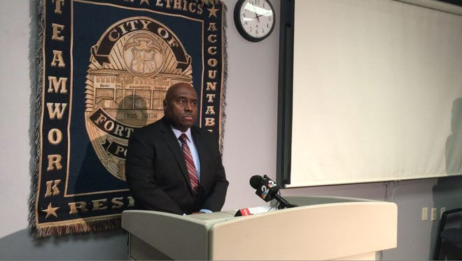 Fort Myers police Chief Derrick Diggs addresses media at the Fort Myers Police Department about the newly formed gang suppression unit.