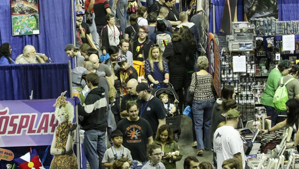 People enjoy the final day of Pensacon 2016 at the