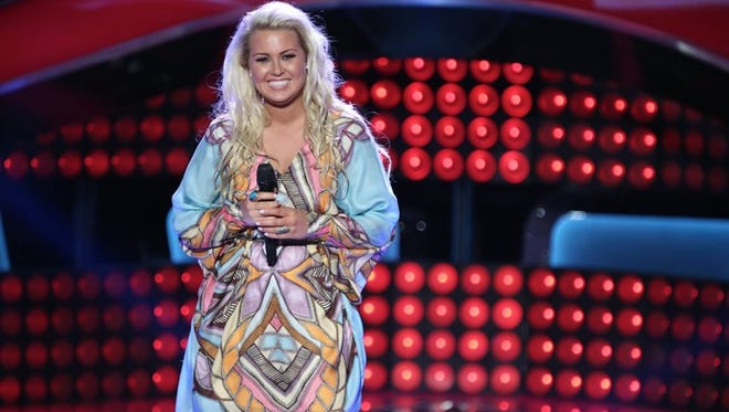 """Cali Tucker returns for the battle rounds of NBC's """"The Voice"""" on Tuesday, March 25."""