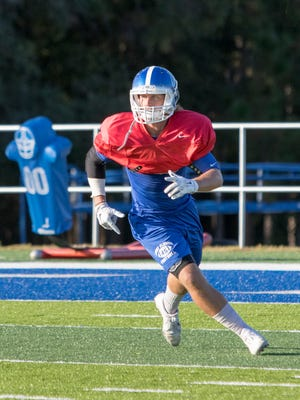 Blake Norwood during football practice at the University of West Florida in Pensacola on Wednesday, October 19, 2016.