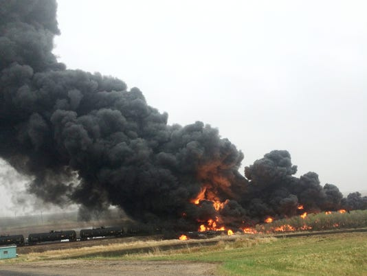Oil Train Derailment North Dakota