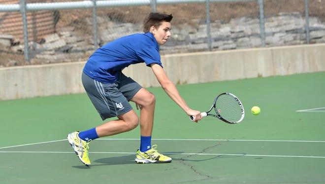Xavier High School graduate David Jumes is a key performer for the Lawrence University men's tennis team.