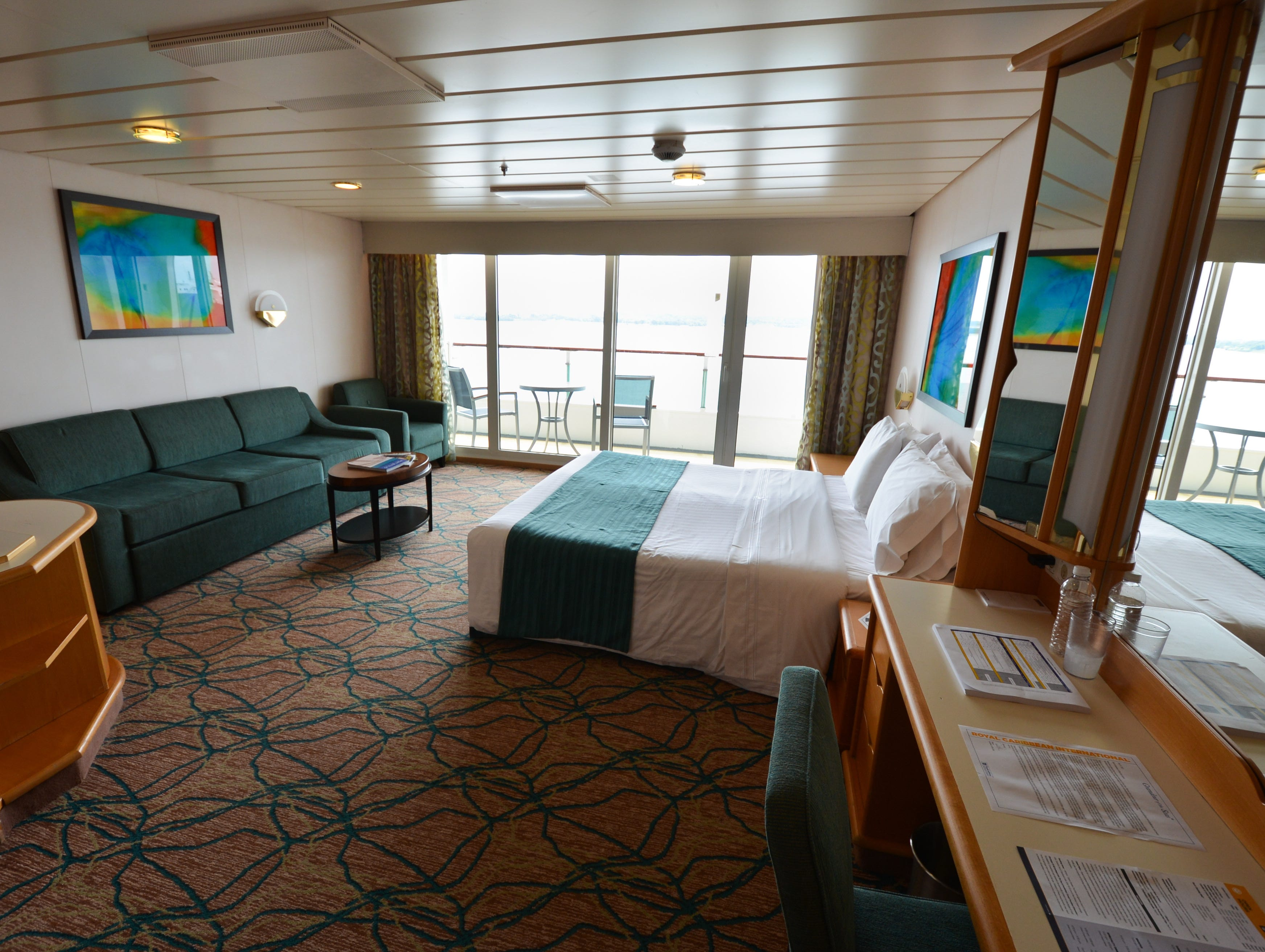 Grandeur of the Seas also has a range of accessible cabins designed for wheelchair access, including this Ocean View with Balcony.