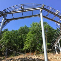 "A rendering of The Runaway, a gravity-powered ""mountain coaster"" at an adventure park being developed in Branson. It is set for a grand opening August 5, 2016."