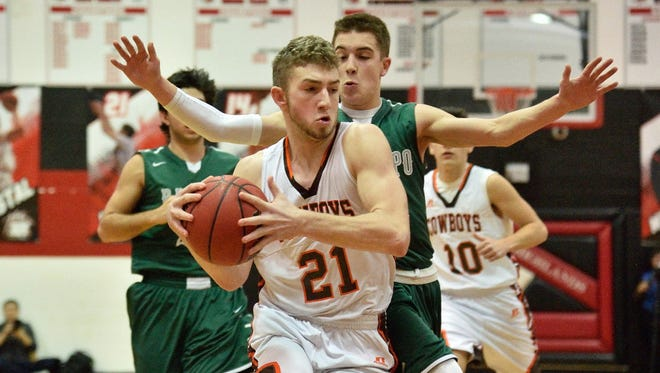 All-North Jersey senior swingman Nick Guillemain (21) is among the key players new coach Paul D'Errico will have to replace next season at Pascack Hills.