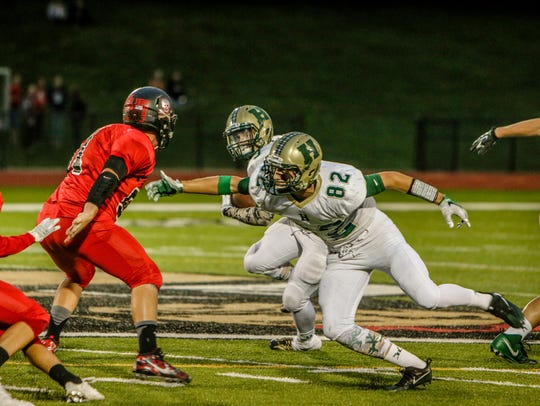 Howell's Logan Russo (82) is a frequent blocker in
