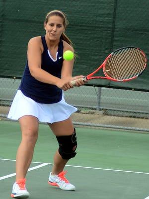 Beech High senior Courtney Brooks and classmate Allie Guinn won their first Region 5-AAA doubles title on Monday.